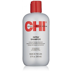Dầu gội CHI Infra Moisture Therapy shampoo siêu mượt cho tóc khô hư tổn (xám) của Mỹ 355ml