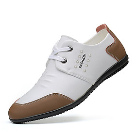 New men's large size single shoes fashion all-match casual white shoes breathable men's shoes