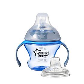 Bình tập uống chuyển tiếp 2in1 Tommee Tippee 150ml từ 4-7 tháng - Transition Xanh Dương
