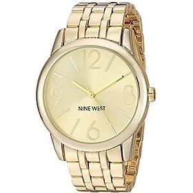 Nine West Women's NW/1578CHGB Champagne Dial Gold-Tone Bracelet Watch