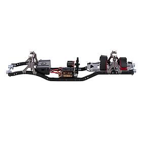 RC Car Frame Carbon Fiber Metal Car Chassis Beam With 540 Motor For AXIAL SCX10 RC CraWler Climbing Car DIY – Black