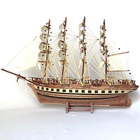Mô hình thuyền gỗ trang trí France II - thân 60cm - loại 1