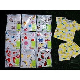 Combo 10 bộ contton giấy cộc tay quần đùi CHO BÉ IN HÌNH NGỘ NGHĨNH