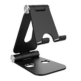 Giá đỡ Aluminum đa năng cho máy tính bảng điện thoại hiệu HOTCASE Dual Foldable Stand Holder hợp kim nhôm (thiết kế gọn nhẹ, tính di động cao, phù hợp nhiều dòng máy từ 3.5 inch trở lên) - Hàng nhập khẩu