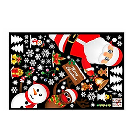 Miếng Dán Kính Cửa Sổ PVC Phong Cách Giáng Sinh