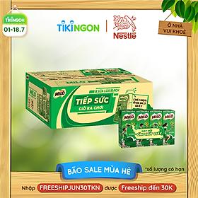 [Chỉ giao HN] [Phiên bản ống hút giấy] Thùng 48 hộp sữa lúa mạch Nestlé Milo (48x180ml)