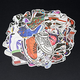 Bộ 10 20 stickers dán, miếng dán, hình dán Sneakers giày trang trí máy tính, laptop, điện thoại, vali, xe máy, xe đạp,....