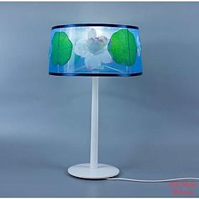 Đèn bàn gỗ hồ sen vải xoan xốp, đèn trang trí nội thất, đèn để bàn phòng ngủ hàng chính hãng.