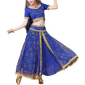 Trang Phục Biểu Diễn Váy Khiêu Vũ Ấn Độ (Bộ 2 Mảnh)