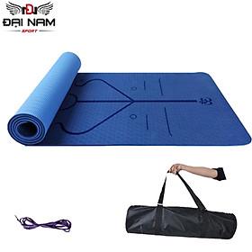 Thảm Tập Yoga,Thảm Tập Gym Định Tuyến 8mm 1 Lớp ECo Chính Hãng Đại Nam Sport + Kèm Túi Và Dây Buộc Thảm