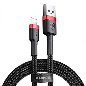Dây cáp sạc nhanh 2.4A Lightning dài 100cm hiệu Baseus Cafule cho iPhone / iPad hỗ trợ truyền data tốc độ cao (2.4A, truyền dữ liệu 480 Mbps, công nghệ SR) - Hàng nhập khẩu