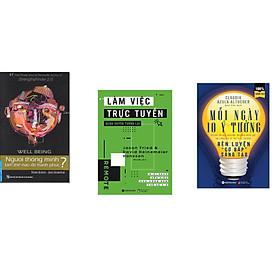 Combo 3 cuốn sách: Người Thông Minh Làm Thế Nào Để Hạnh Phúc? + Làm việc trực tuyến quán xuyến tương lai  + Mỗi Ngày 10 Ý Tưởng Rèn Luyện Cơ Bắp Sáng Tạo