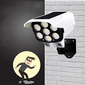 Đèn cảm ứng 7 mắt LED dùng pin năng lượng mặt trời mẫu camera chống trộm