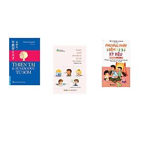 Combo 3 cuốn sách: Thiên Tài & Sự Giáo Dục Từ Sớm + Mẹ Nhật Truyền Cảm Hứng Học Cho Con Như Thế Nào  + Phương Pháp Đếm 123 Kỳ Diệu Cho Giáo Viên