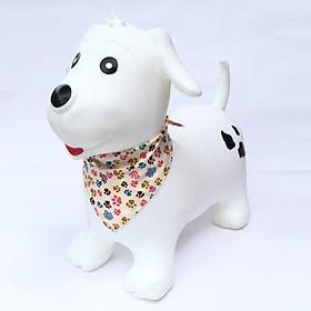 Thú nhún cao cấp Toys House chính hãng kèm bơm cho bé (mẫu cún trắng)