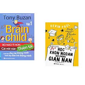 Combo 2 cuốn sách: Tony Buzan - Bộ Não Tí Hon Cái Nôi Của Thiên Tài (Tập 1) + Học Khôn Ngoan Mà Không Gian Nan