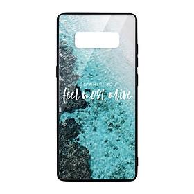 Ốp lưng KÍNH CƯỜNG LỰC VIỀN ĐEN cho Samsung Galaxy Note 8 FEEL MOST ALIVE - Hàng chính hãng