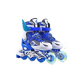 Giày patin trẻ em siêu hot cho bé màu xanh có cánh