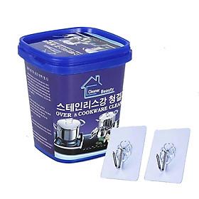 Kem Tẩy Rửa Đa Năng Nhà Bếp Oven Cookware Cleaner 500g Kèm 02 Móc Dán Treo Tường Cao Cấp AZONE
