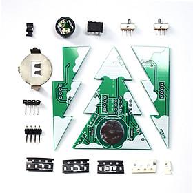 3D Mini PCB Stereo Christmas Tree DIY Music Kit Electronic Learning Kit Module Christmas Tree DIY Kit