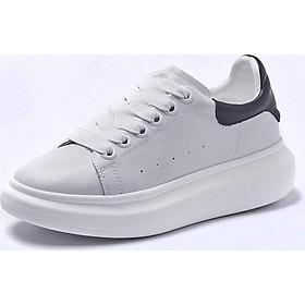 Giày Sneaker Nữ Da Sần Nhẹ