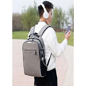 Balo thời trang nam nữ đựng laptop, có phản quang và mã khóa chống trộm