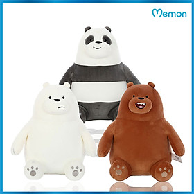 Gấu bông Bộ ba gấu cao cấp - Hàng chính hãng Memon - Đồ chơi thú nhồi bông Bộ 3 gấu, Bông Gòn PP 3D tinh khiết mềm mịn, đàn hồi đa chiều, sản phẩm bền đẹp, an toàn cho người sử dụng