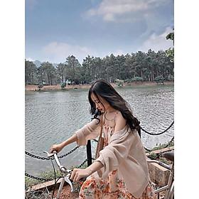 Áo cardigan lưới mỏng phong cách Hàn Quốc SANG CHẢNH