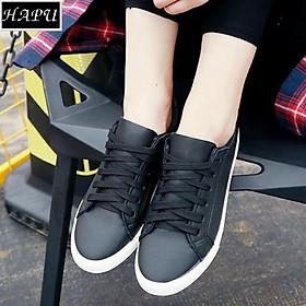 Giày sneaker nữ phong cách hàn quốc HAPU đen