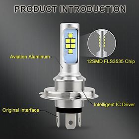 Đèn Pha LED Siêu Sáng Cho Xe Máy H4 HS1 ATV (6000K)