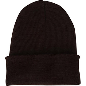 Men Women Simple Solid Color Beanie Knit Cap Hip-Hop Winter Warm Unisex Wool Hat