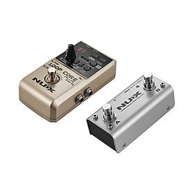 Bàn Đạp Guitar 24-Bit NUX LOOP CORE DELUXE Với Bàn Đạp Chân Kép Ghi Âm 8 Giờ Tích Hợp 40 Nhịp Trống