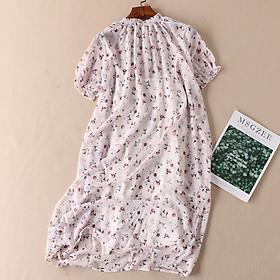 Đầm suông voan cổ rút kèm áo trong LAHstore, thời trang phong cách trẻ