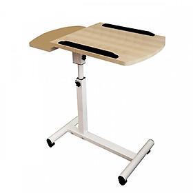 Bàn laptop di động kích thước 60*40, tăng giảm chiều cao, gỗ ép phủ melanin chống xước vân gỗ cao cấp