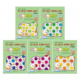 Combo Trọn Bộ 5 Cuốn Phát Triển Tư Duy Toán Học Cùng Thỏ Mặt ( To 5-6 Tuổi ) tặng kèm bookmark
