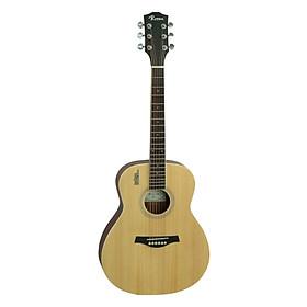 Đàn Guitar Acoustic Rosen Mini Mầu Vàng Gỗ ( Soid Top)