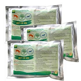 Combo 3 gói Chế phẩm sinh học EM gốc 500g - Chứa hàng tỷ vi sinh vật có lợi - Ủ rác bã hữu cơ làm phân bón - Xử lý mùi hôi