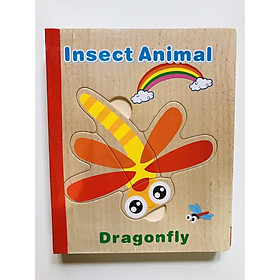 Sách ghép hình cho bé bằng gỗ - combo 2 quyển - đồ chơi thông minh Mk