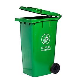 Hình ảnh Thùng rác nhựa 120L màu xanh