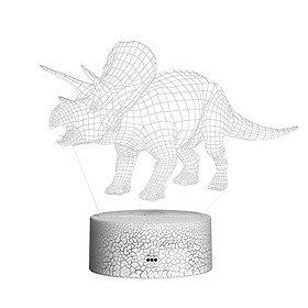 3D Dinosaur Led Night Light Illusion Lamp Color Changing Lights Bedside Table Desk Lamp with Touching & Remote Control