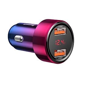 Tẩu củ sạc nhanh đa năng dành cho xe hơi / ô tô 2 cổng USB hiệu Baseus Dual-USB (45W - 6A, Công nghệ sạc nhanh Quick Charge 3.0 / Quick Chagre 4.0, 2 cổng USB Car Charger) - hàng chính hãng