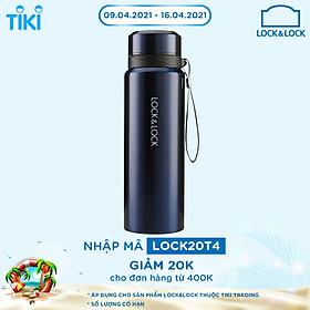 Bình Giữ Nhiệt Bằng Thép Không Gỉ Lock&Lock Vacuum Bottle LHC6180FU (800ML) - Xanh Đậm