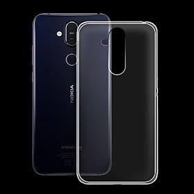 Ốp lưng cho Nokia 8.1 - 01173 - Ốp dẻo trong - Hàng Chính Hãng