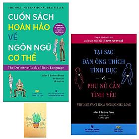 Combo Cuốn Sách Hoàn Hảo Về Ngôn Ngữ Cơ Thể - Body Language và Tại Sao Đàn Ông Thích Tình Dục & Phụ Nữ Cần Tình Yêu ( Tặng Sổ Tay )