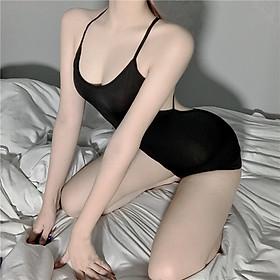 Váy ngủ sexy bó sát body hở lưng cosplay quyến rũ