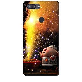 Ốp Lưng Dành Cho Điện Thoại Xiaomi Mi 8 Lite Heo Đốt Pháo