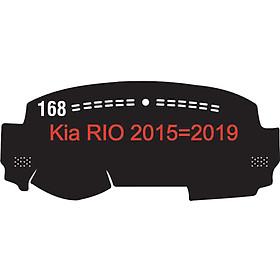 Thảm da Taplo vân Carbon Cao cấp dành cho xe Kia-Rio-2015-2019 có khắc chữ Kia-Rio và cắt bằng máy lazer