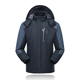 Áo Khoác Trượt Tuyết Lông Cừu Chống Thấm Nước Đen Lixada (Size 4XL)
