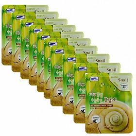 Bộ 10 gói mặt nạ chiết xuất ốc sên 3W Clinic Fresh Snail Mask Sheet (23ml x 10)