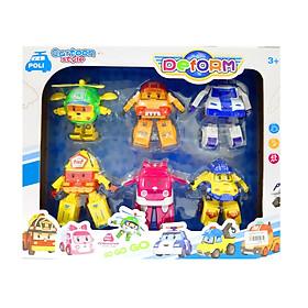 Đồ chơi trẻ em Đội bay siêu đẳng Robocar Poli và những người bạn - Bộ 6 con
